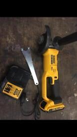 """Dewalt dcg412 cordless angle grinder 115mm 4 1/2"""" cutter ankle"""