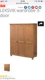 Ikea leksvik wardrobe, fully assembled