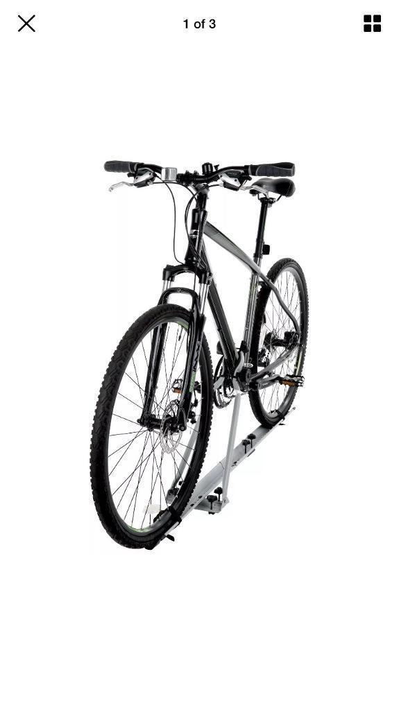 2 x roof mounted bike racks bicycle rack cycle mount Halfords. NEW. Bargain