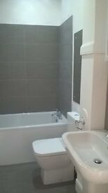 spacious 1 bedroom flat,new bathroom,GCH,new double glazing,white good,quiet location,parking.
