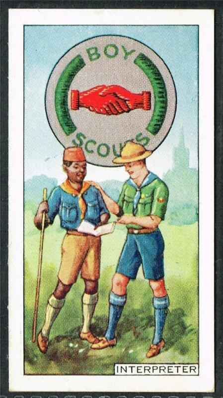 1939 CWS Boy Scout Badges, Cigarette/Tobacco card, No. 9, Interpreter