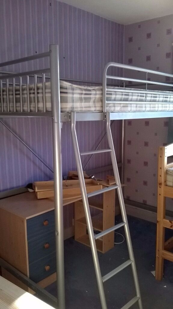 Metal High sleep cabin bed including illustrated desk | in Leicester ...