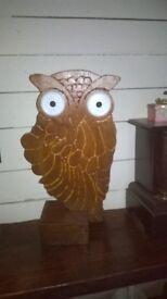 homemade wooden owl