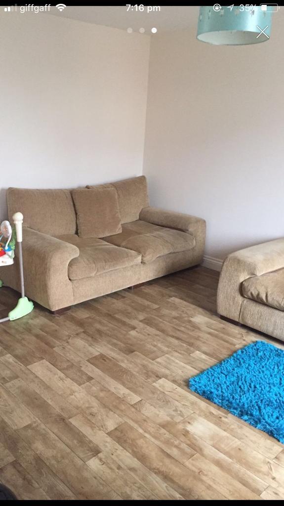 Two matching sofas | in Taunton, Somerset | Gumtree