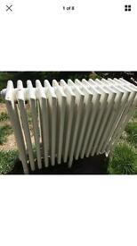 Two 6 column radiator freestanding