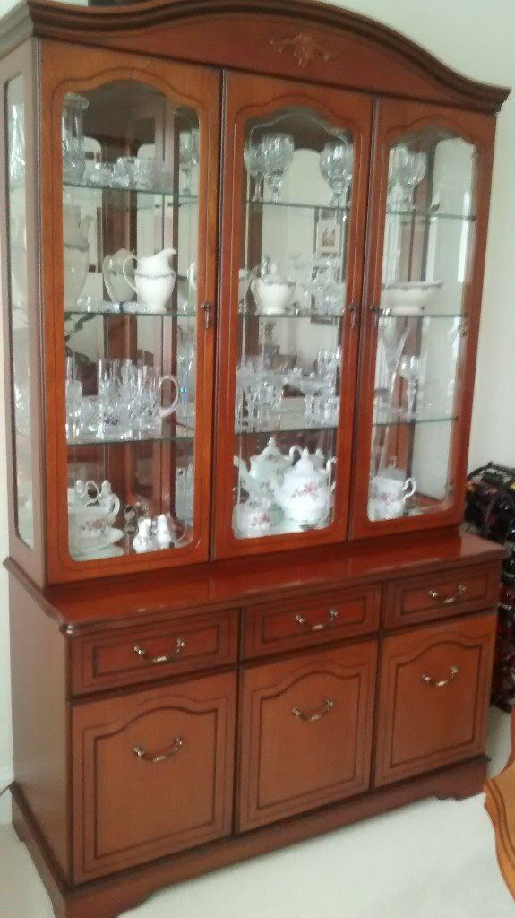 Good Quality Cherrywood Display Cabinet Made By Gola Immacculate Condition