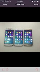 Samsung galaxy s6's