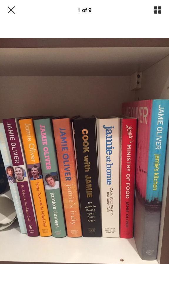 Jamie Oliver cook book job lot