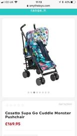Cosatto supa go monster cuddle stroller