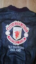Manchester United Leather Jacket Vintage Pre used