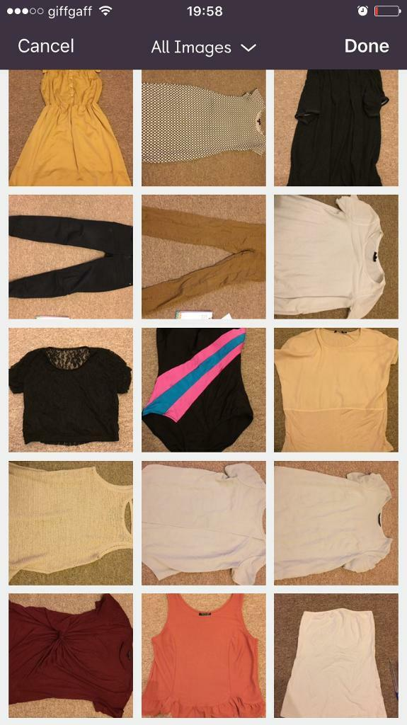 Bundle of ladies clothes size 8/10 and shoes size 5