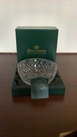 2- LARGE TYRONE LEAD CRYSTAL BOWL & VASE