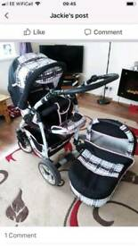 2 in 1 pram & pushchair
