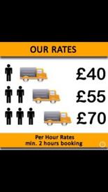 URGENT SHORT NOTICE MAN&LUTON VAN HIRE DELIVERY HOUSE/OFFICE REMOVALS COURIER/WASTE RUBBISH MOVERS
