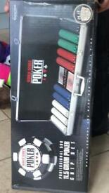 World Series poker chip set,,BN