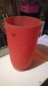 Quality orange glass vase perfect central London bargain