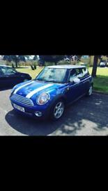 Blue Mini Cooper 1.6 57 plate