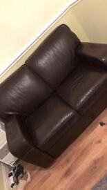Used leather 2 seater sofa