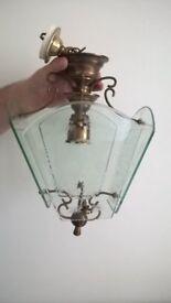 Vintage Light. Glass & metal (probably brass)