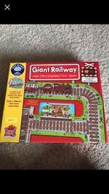 Giant railway orchard toy