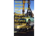 Scrap cars wanted will beat any price £160 plus big cars