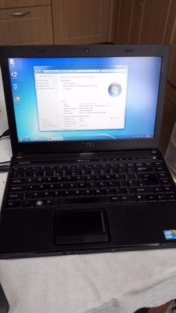 Dell Vostro 3300 laptop - i3 processor, 8GB RAM, 750GB HDD, 13 inch screen