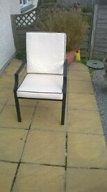 chairs four off with seat and back cushions supplied