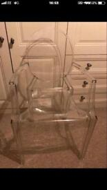 2 Louis ghost chairs