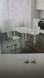 Extendable Dining Table & 2 Chairs