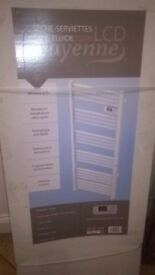 Ladder towel rail with thermostat brand new.