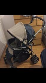 Mammas n Pappas folding Newborn to Toddler Pram inc Car seat