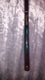 3piece jimmy white snooker cue with case