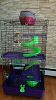 Super Pet small animal cage+accessories +small carrier