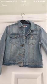 Girls bluezoo denim jacket age 6