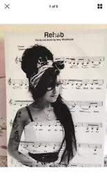 Amy winehouse rehab music canvas