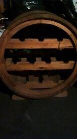 Half Barrel Wine Rack - Solid Oak