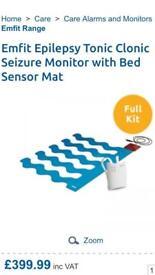 Emfit epilepsy seizure monitor febrile bed alarm