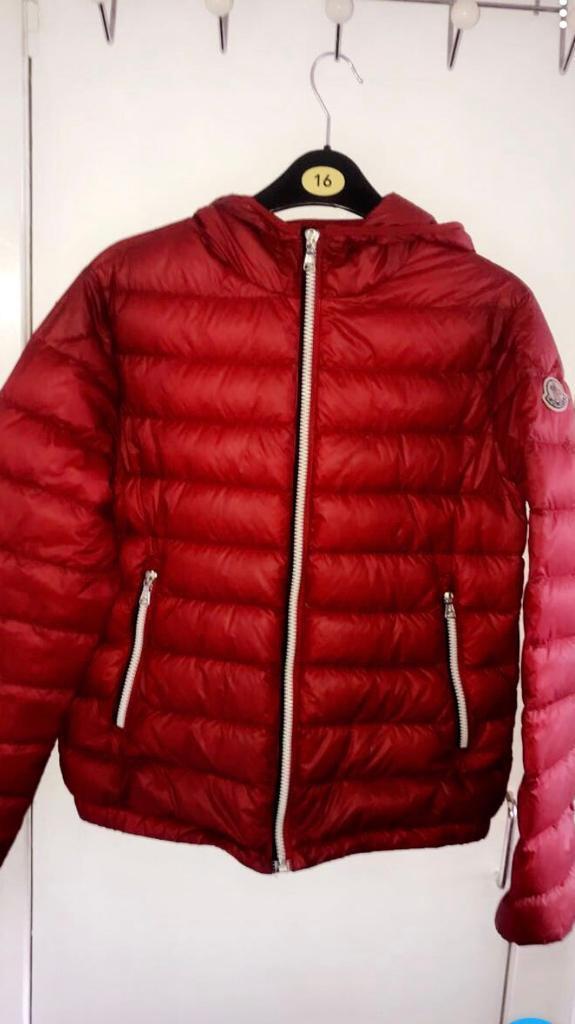 57bbe3523 Kids red Moncler jacket