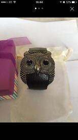 Owl snap on bracelet