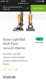 Dyson light ball multi floor vacuum new