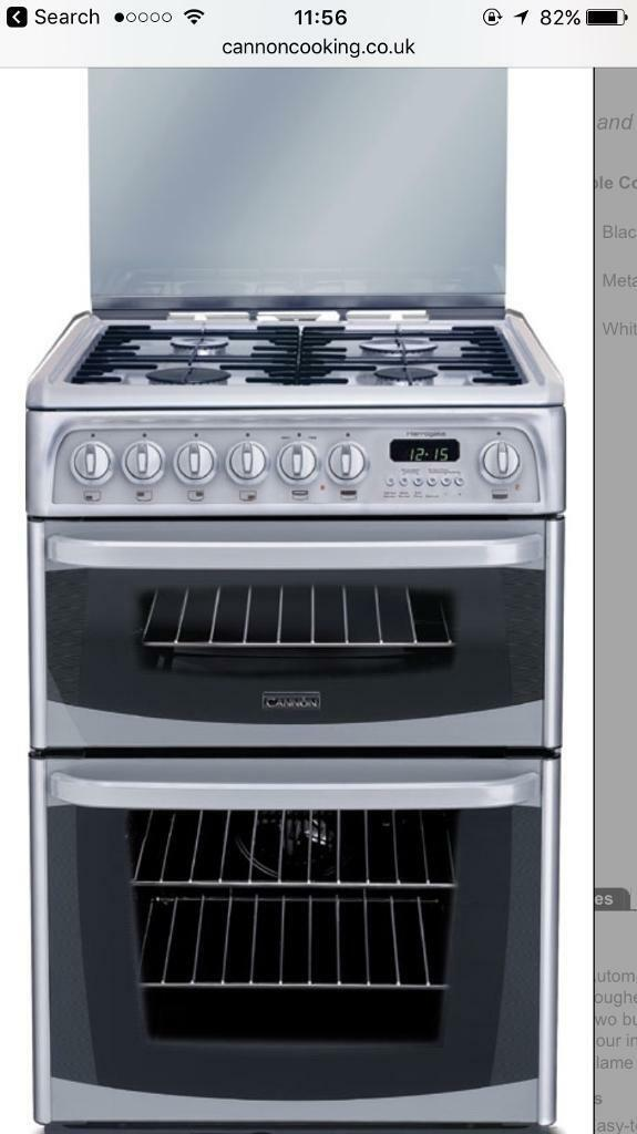 Used cannon Harrogate dual fuel cooker double oven cooker
