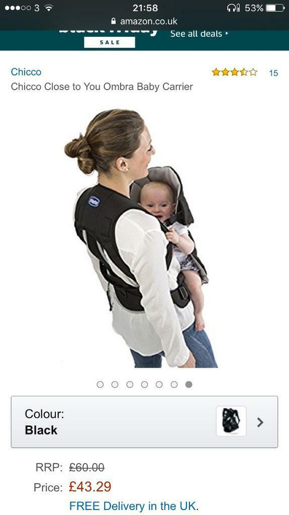 10 Chicco Baby Carrier Sling In Angel London Gumtree