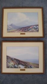 2x Limited Edition Framed Dartmoor Prints by J. Whiteley