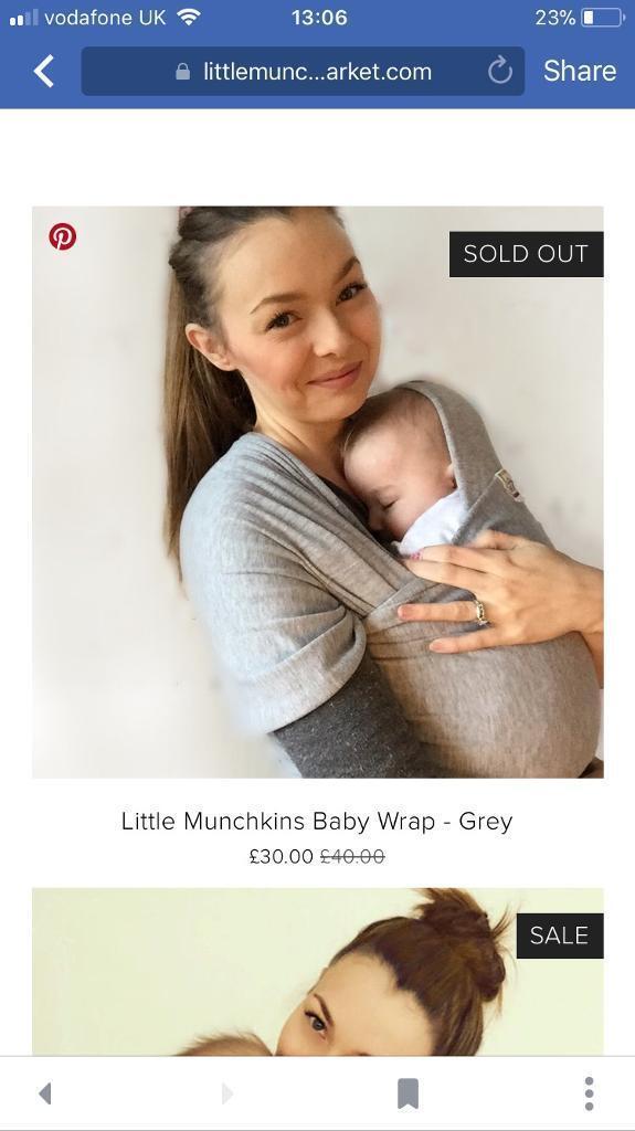 Little Munchkins Baby Wrap In Grey In Heckmondwike West Yorkshire
