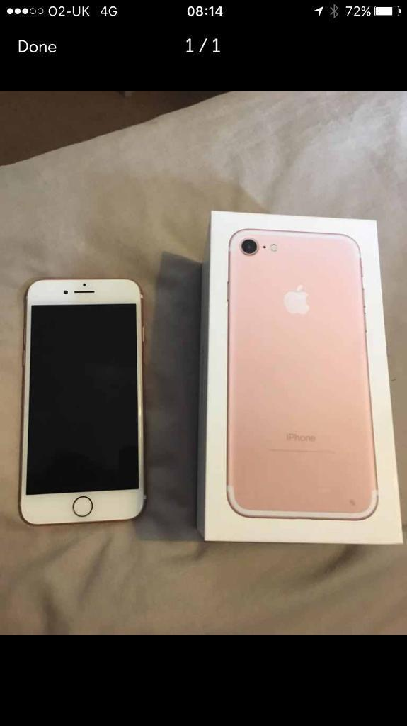 Rose Gold iPhone 7 32g boxed