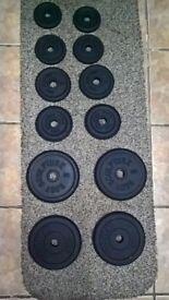 38.5kg Cast Iron Dumbbell Weights Set Adjustable (ez, barbell, bench, press, squat, stands, rack)