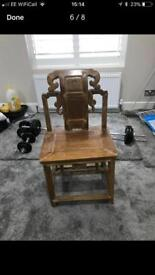Antique Chinese hall chair c.1900