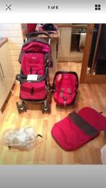 Pink candy graco travel system