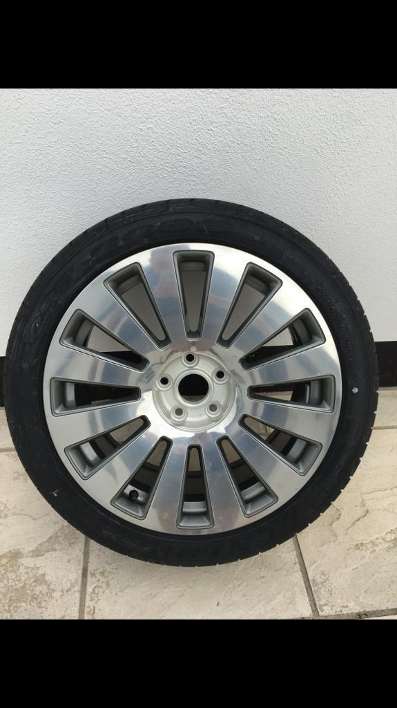 "NEW GENUINE AUDI A8 D3 19"" ALLOY WHEEL - 4E0 601 025 New Dunlop Tyre"