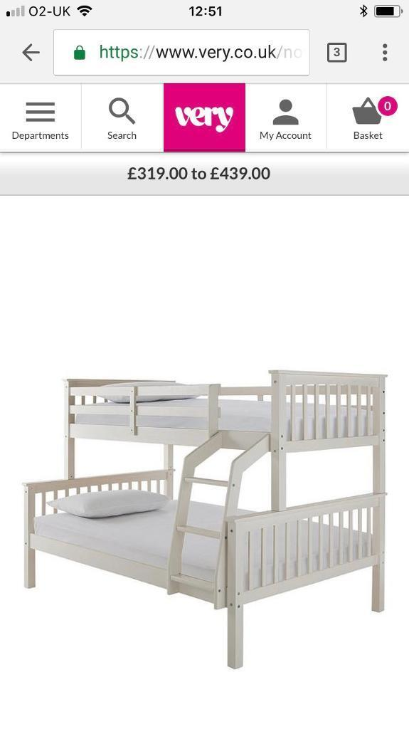 New Novara Trio Bunk Bed Small Double And Single In Eccles